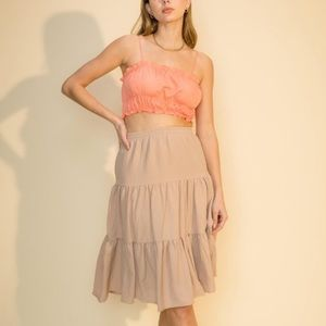 Camille Skirt (Taupe )